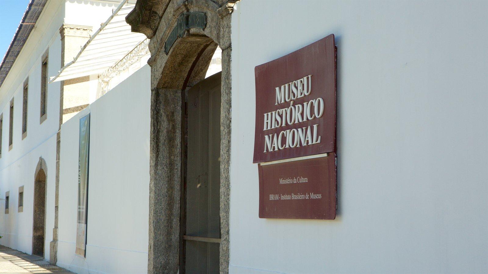 Museu Histórico Nacional caracterizando sinalização