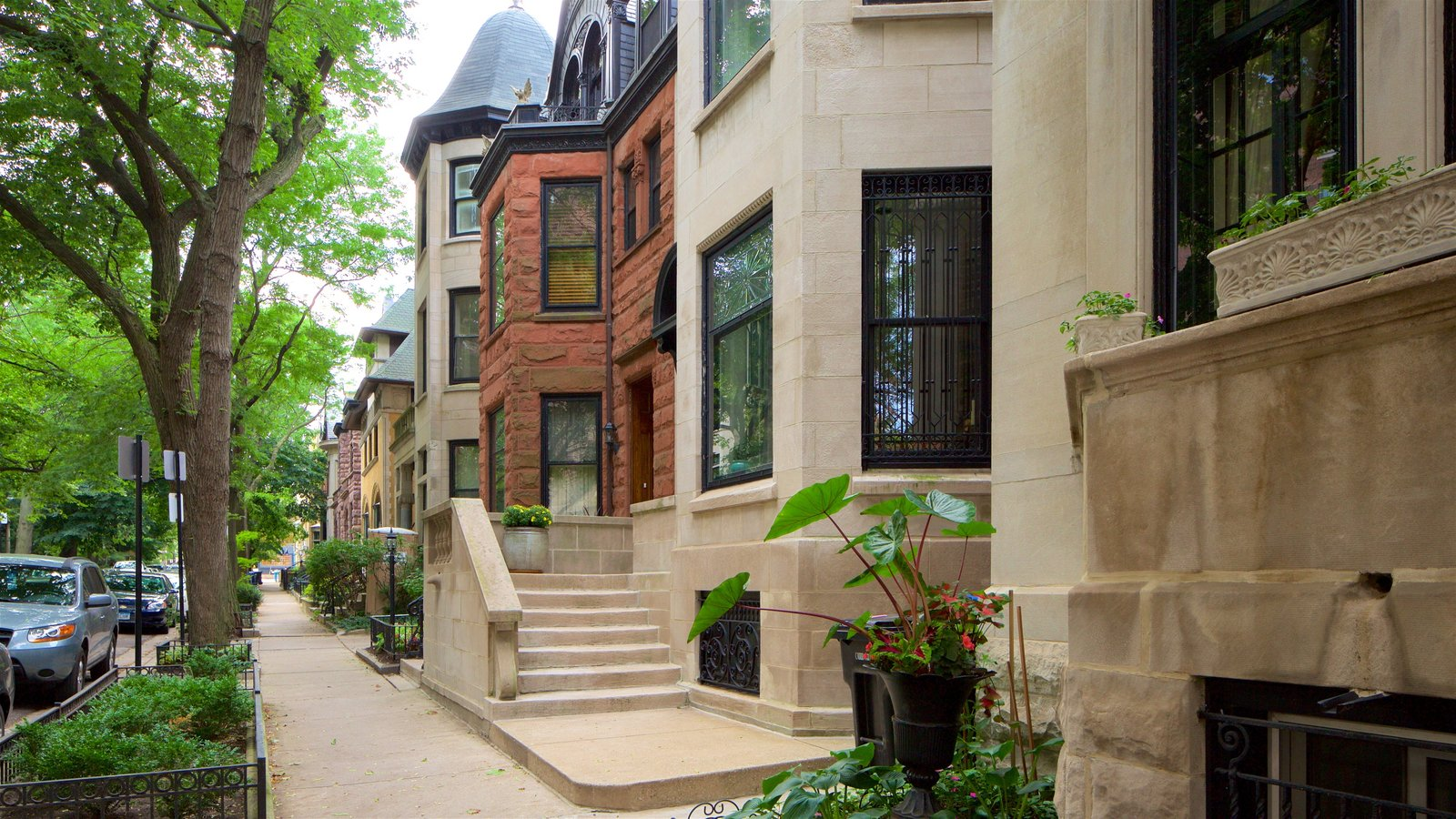 Lincoln Park featuring heritage architecture and street scenes