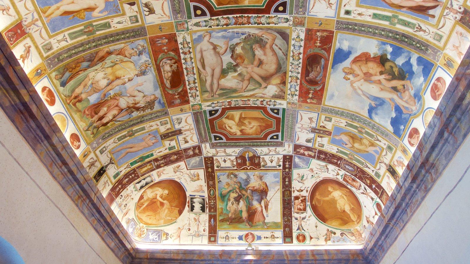Castiglione del Lago which includes a church or cathedral and interior views