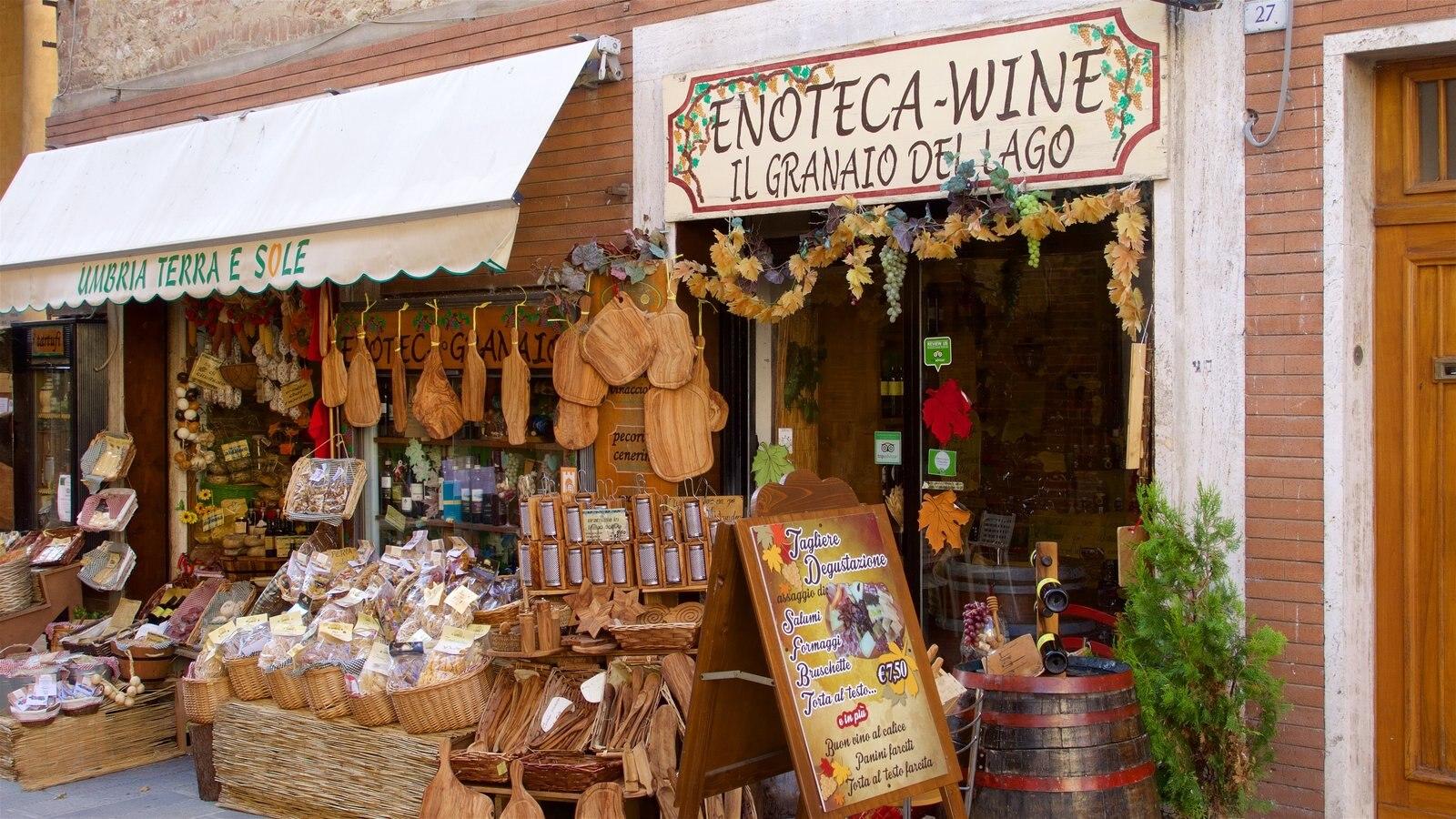 Castiglione del Lago showing shopping