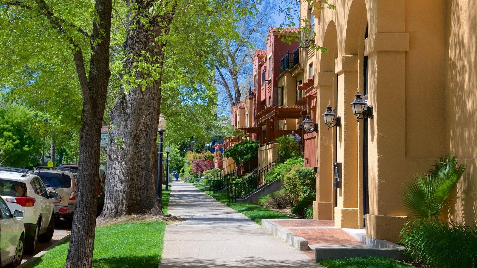 Sacramento caracterizando cenas de rua
