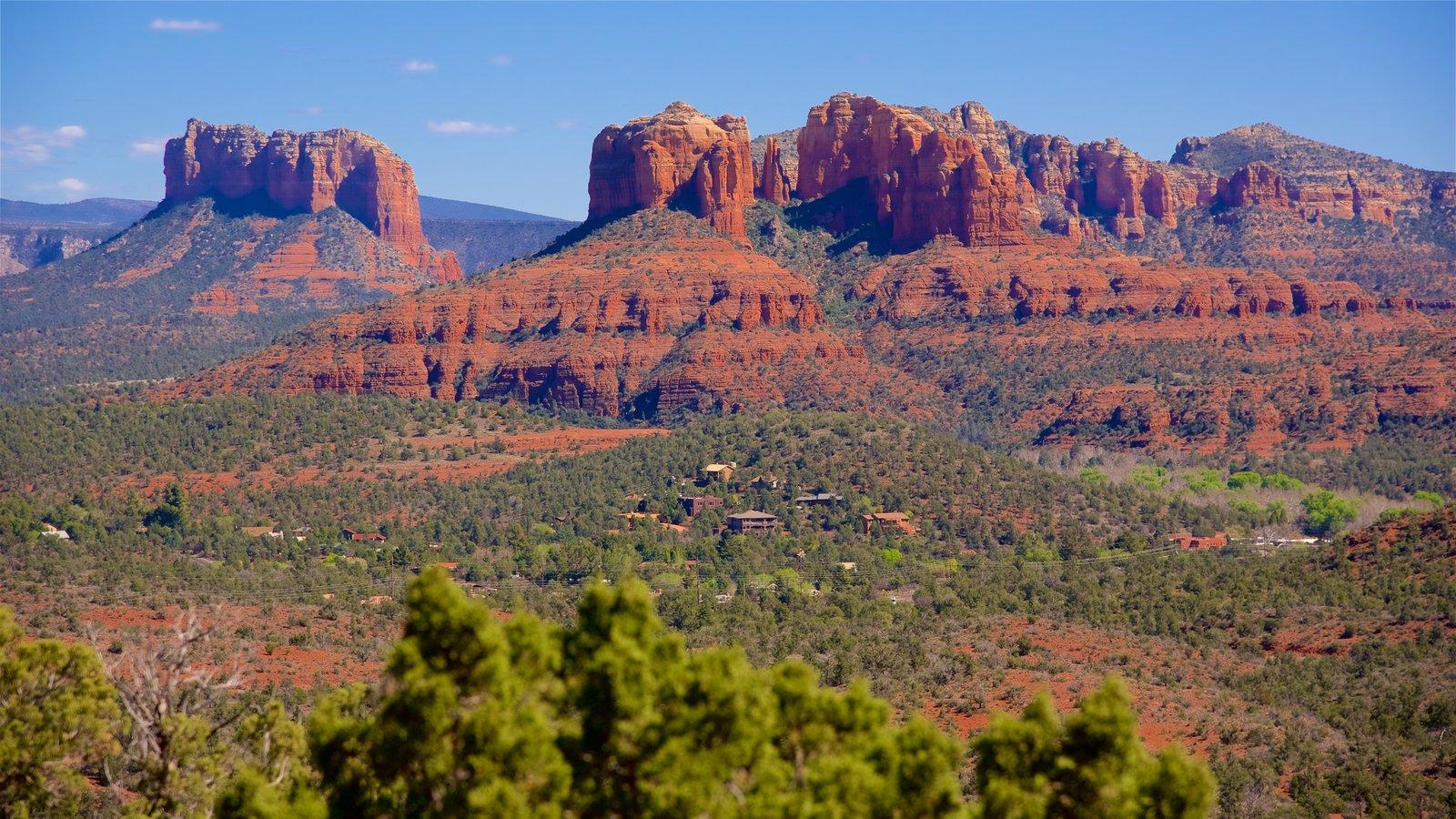 Norte de Arizona mostrando paisagem, paisagens do deserto e montanhas