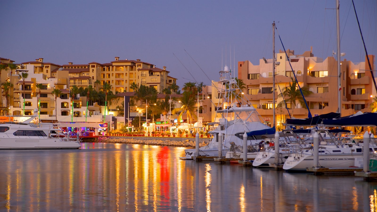 Mexico which includes a bay or harbor, a coastal town and night scenes