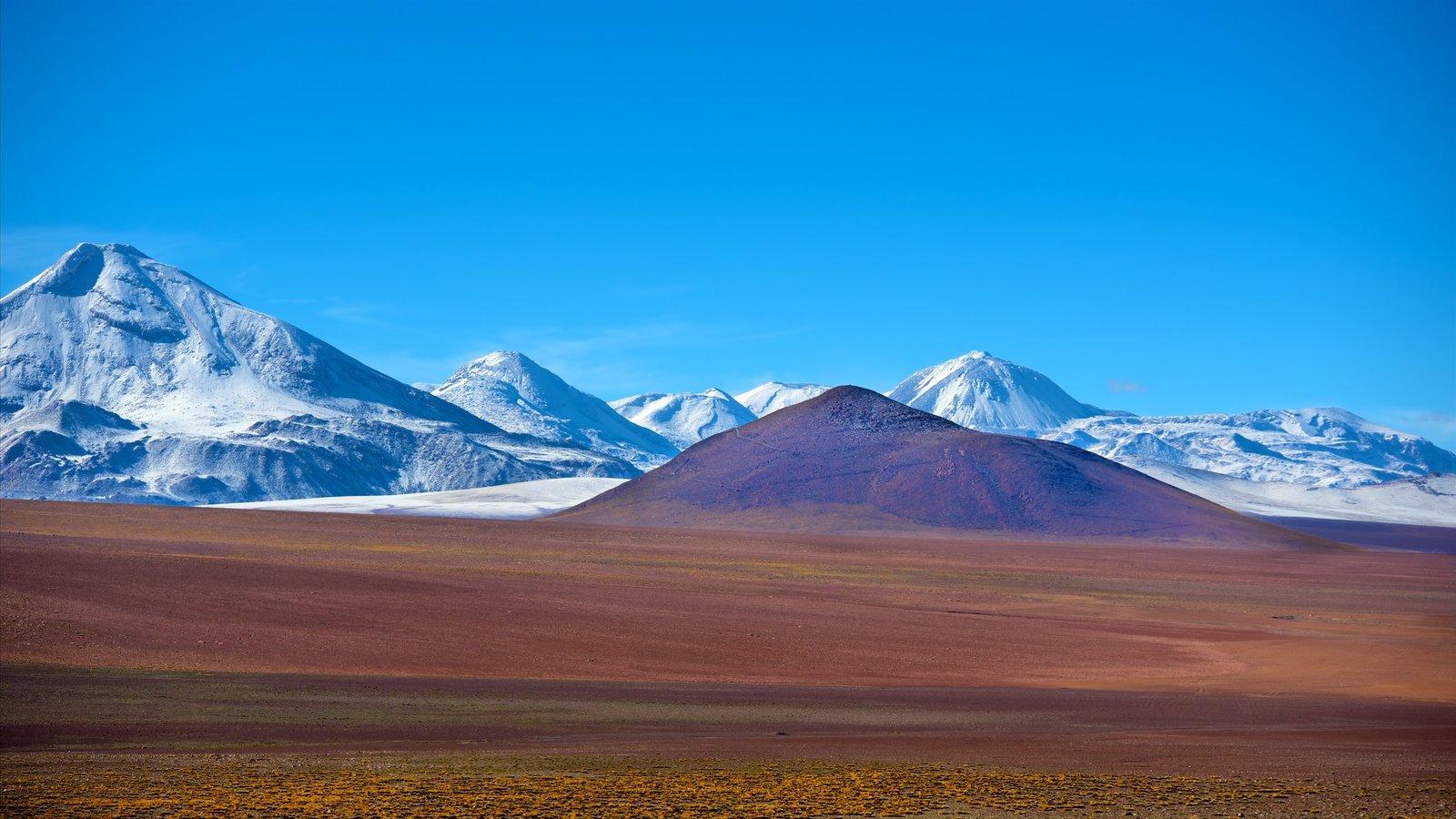 Chile mostrando cenas tranquilas, montanhas e neve