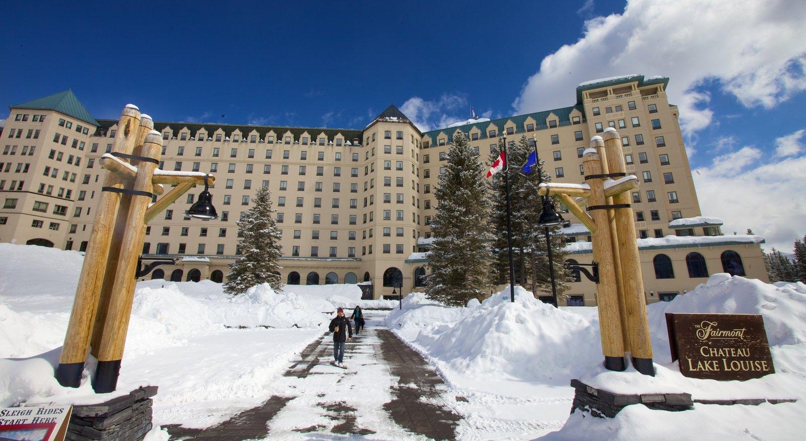 Parque nacional Banff que incluye nieve