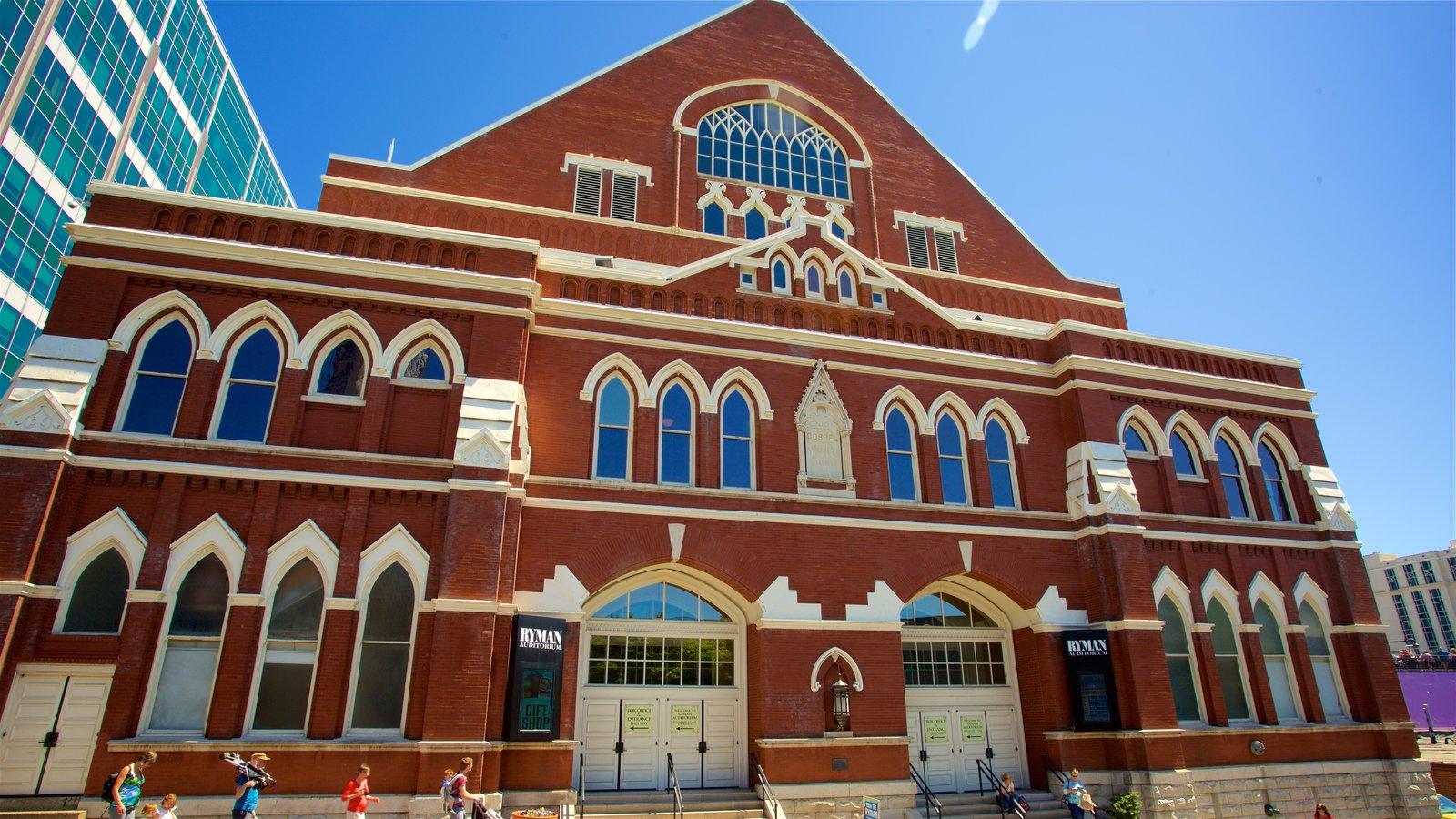 Ryman Auditorium que incluye elementos del patrimonio