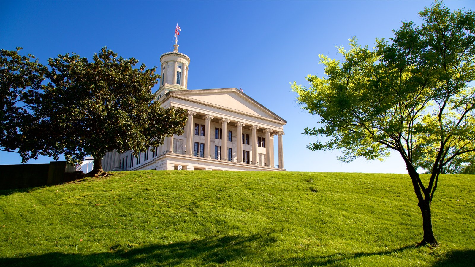 Tennessee State Capitol que incluye un parque y patrimonio de arquitectura
