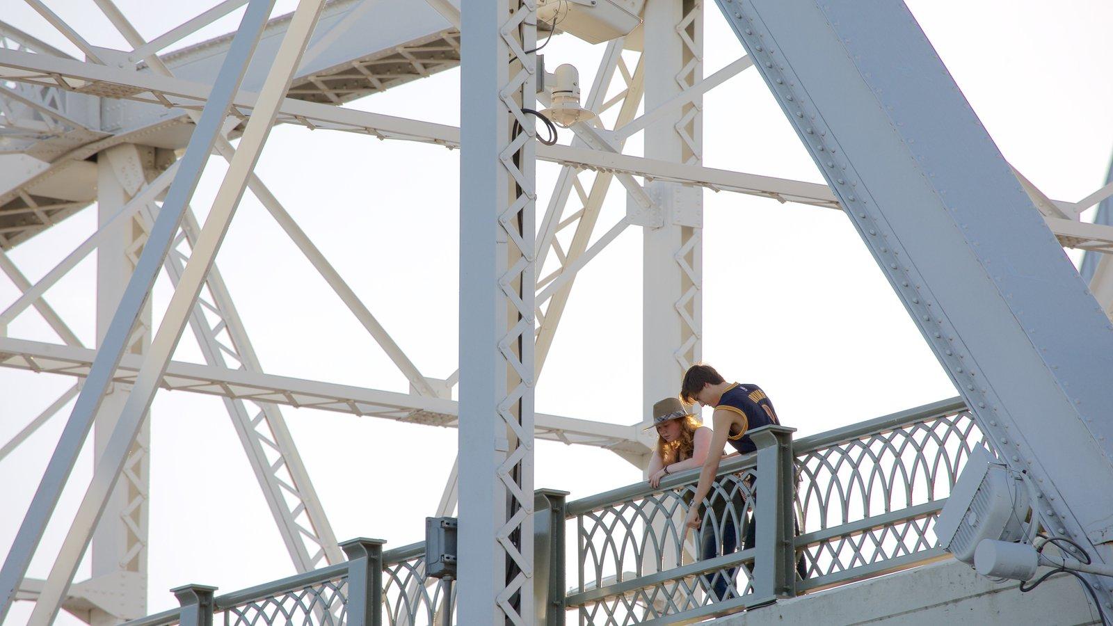 Cumberland Park mostrando un puente y también una pareja