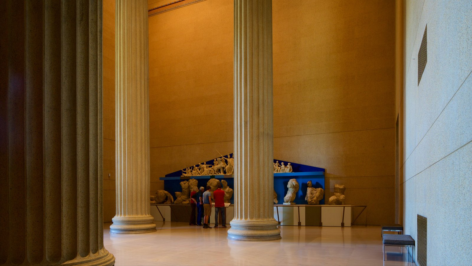 Parthenon mostrando elementos del patrimonio y vistas interiores