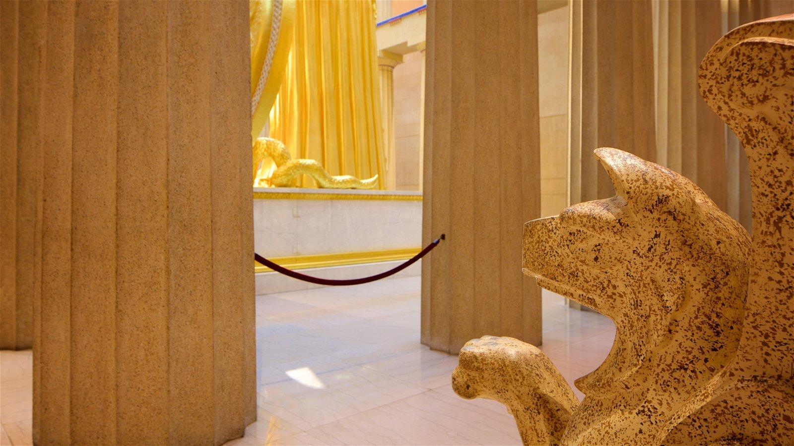 Parthenon que incluye vistas interiores y elementos del patrimonio