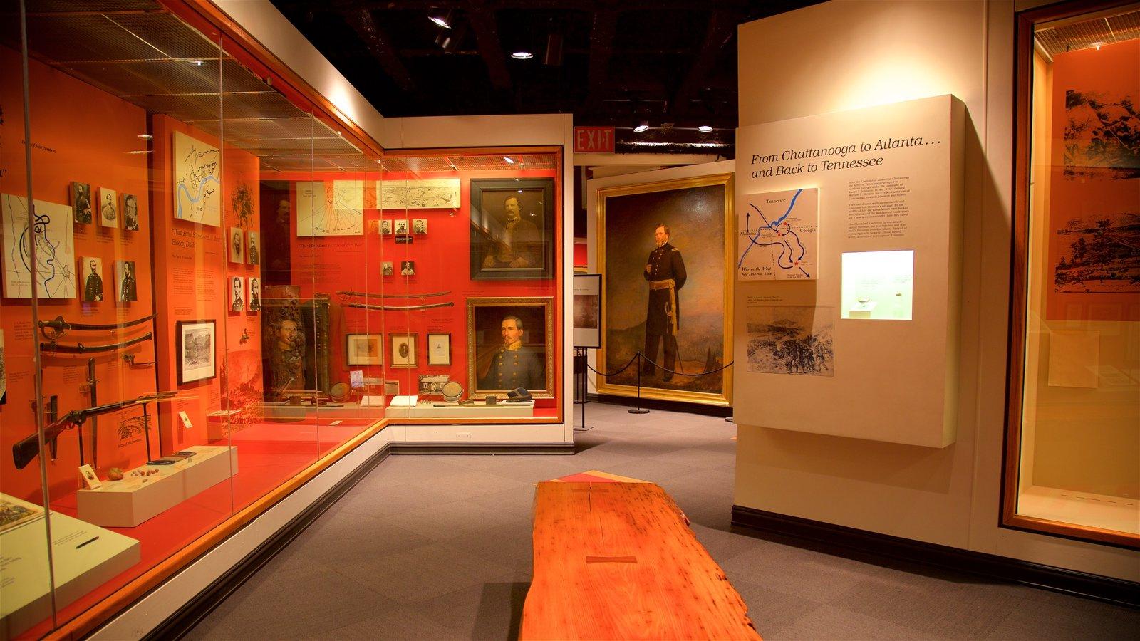 Tennessee State Museum mostrando vistas interiores