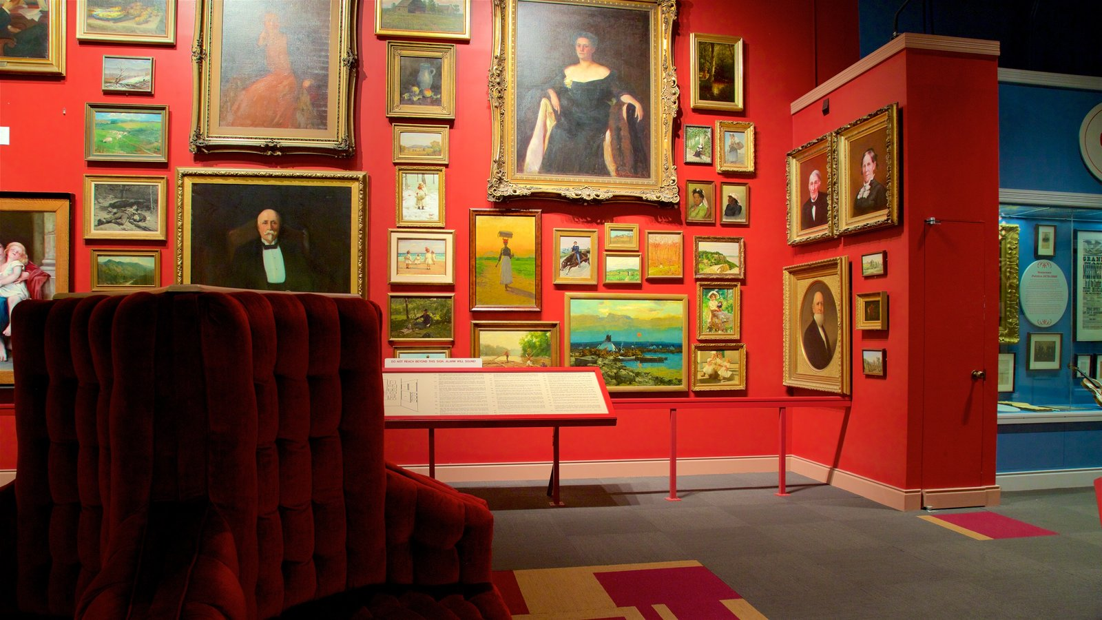 Tennessee State Museum mostrando arte y vistas interiores