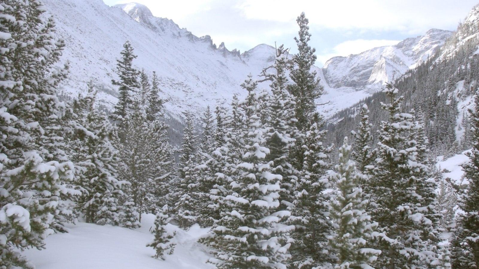 Rocky Mountain National Park caracterizando cenas tranquilas e neve
