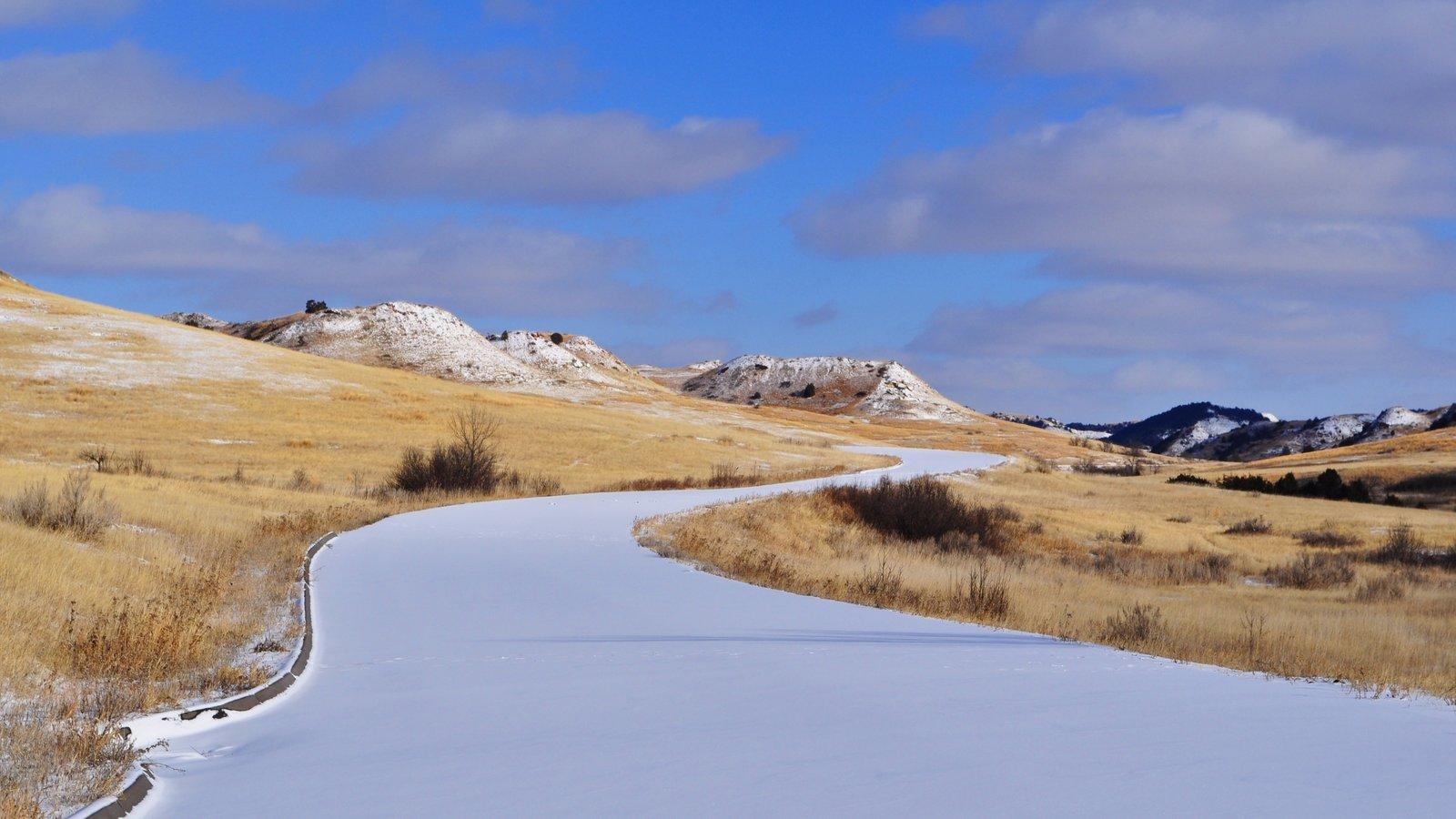 Parque Nacional de Theodore Roosevelt mostrando paisagem e cenas tranquilas
