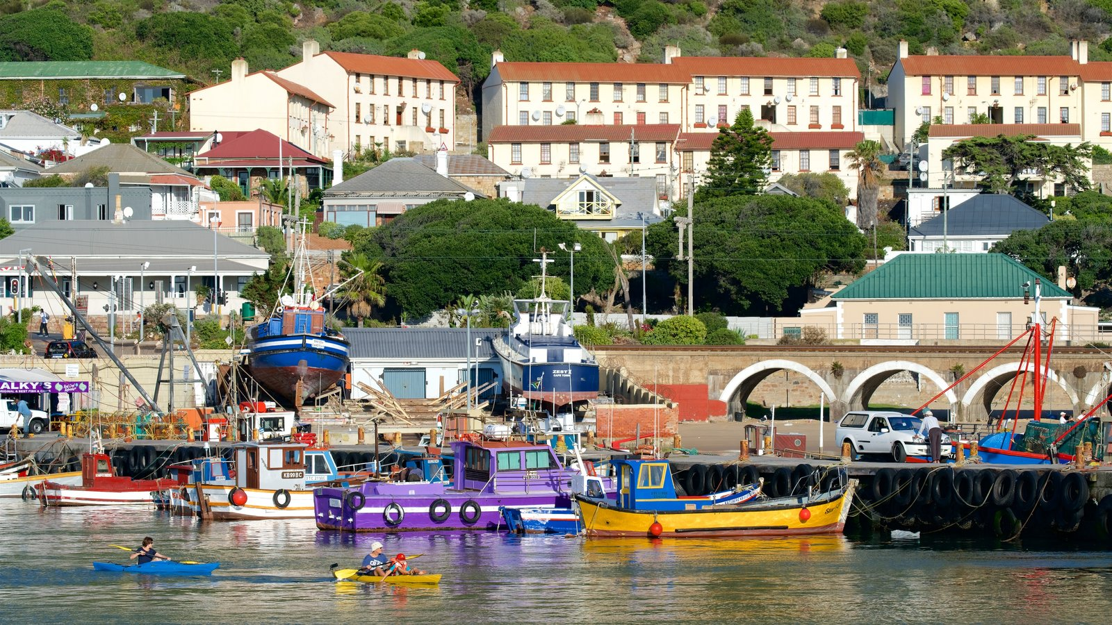 Kalk Bay featuring kayaking or canoeing, boating and a bay or harbor