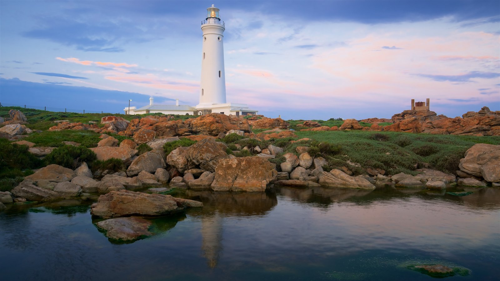 Seal Point Lighthouse featuring general coastal views, a lighthouse and rugged coastline