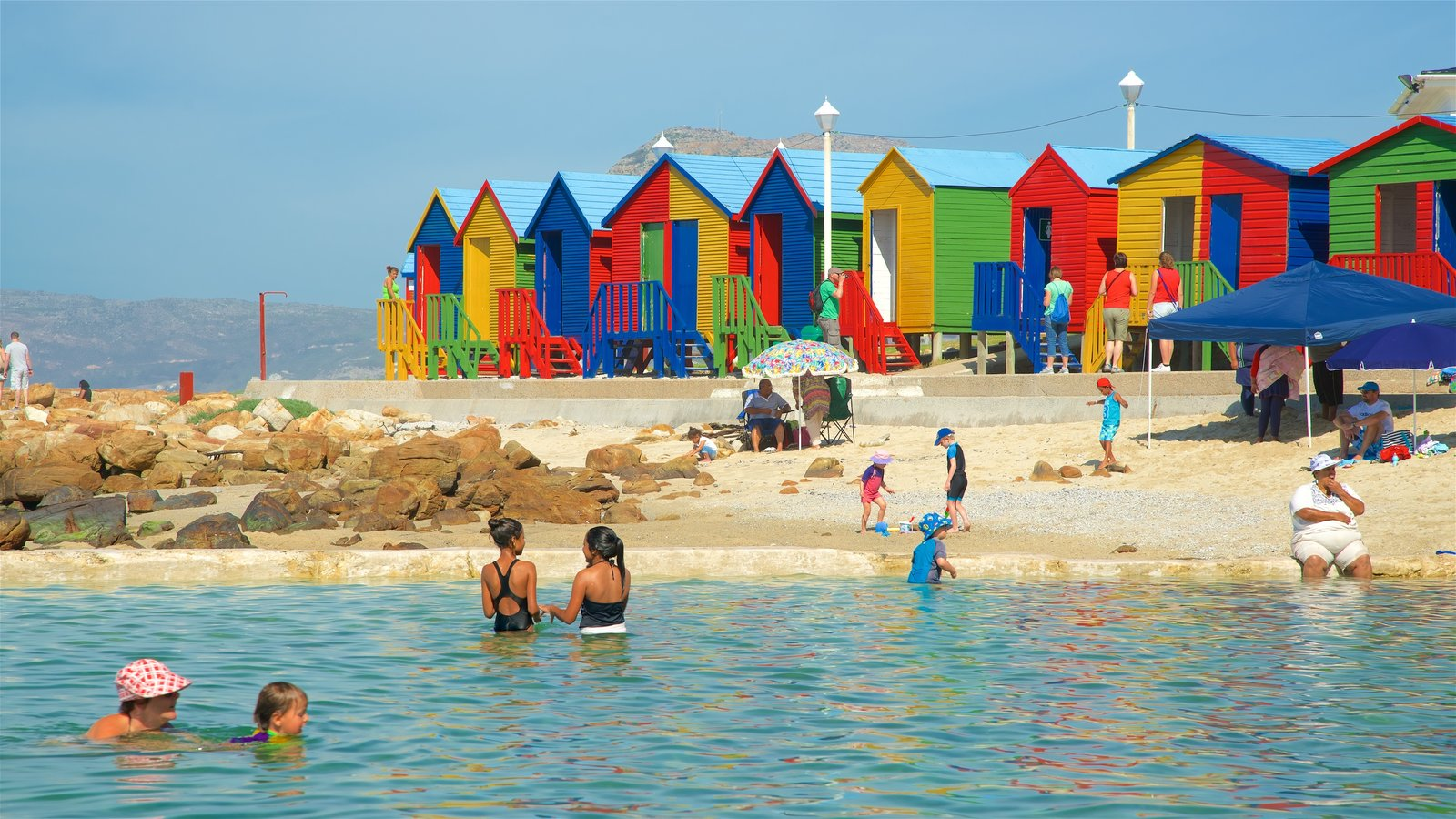 Cape Town which includes swimming, a coastal town and a pool