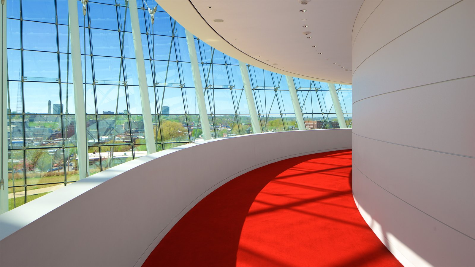 Kauffman Center for the Performing Arts which includes modern architecture and interior views