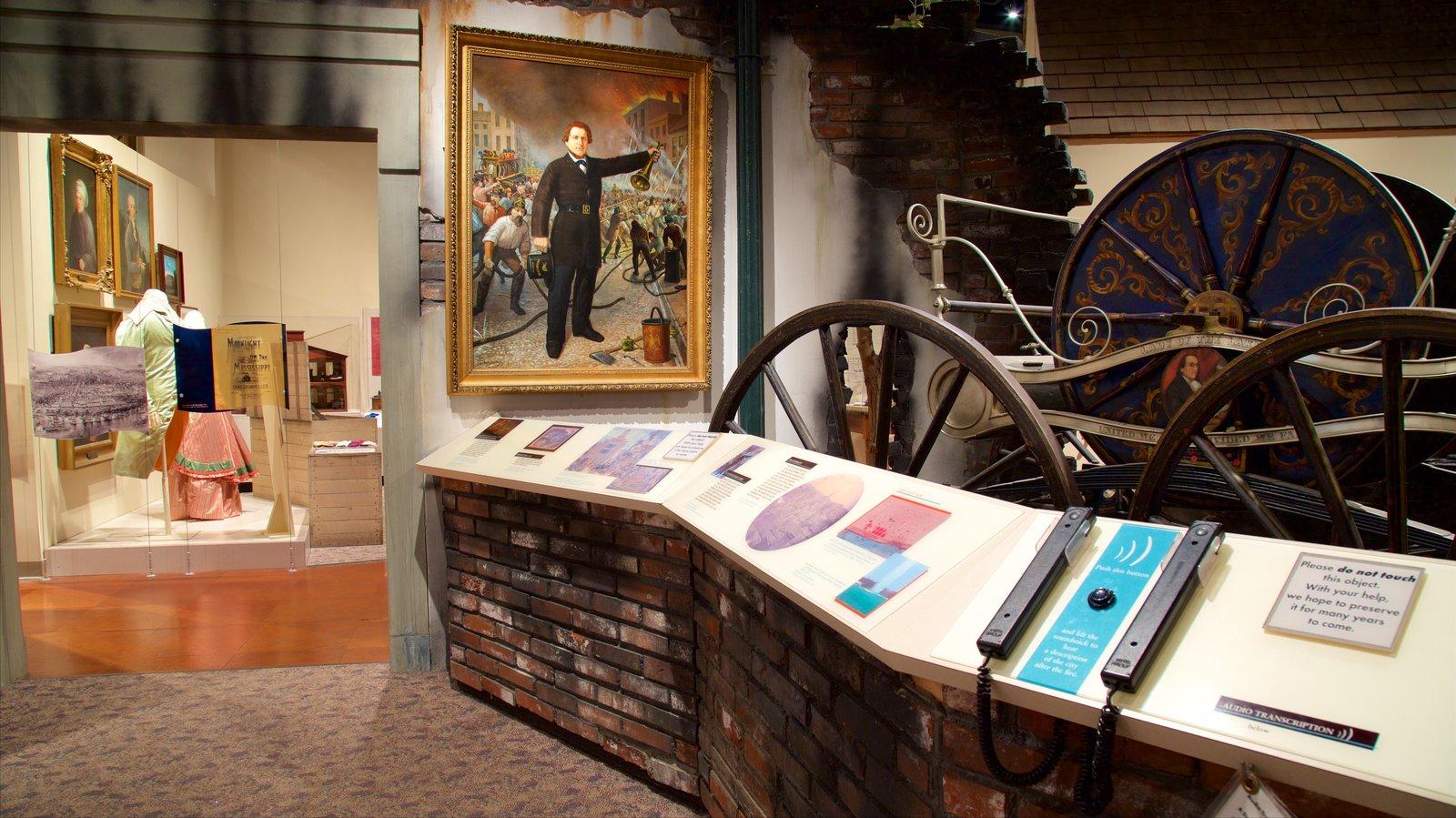 Missouri History Museum featuring interior views