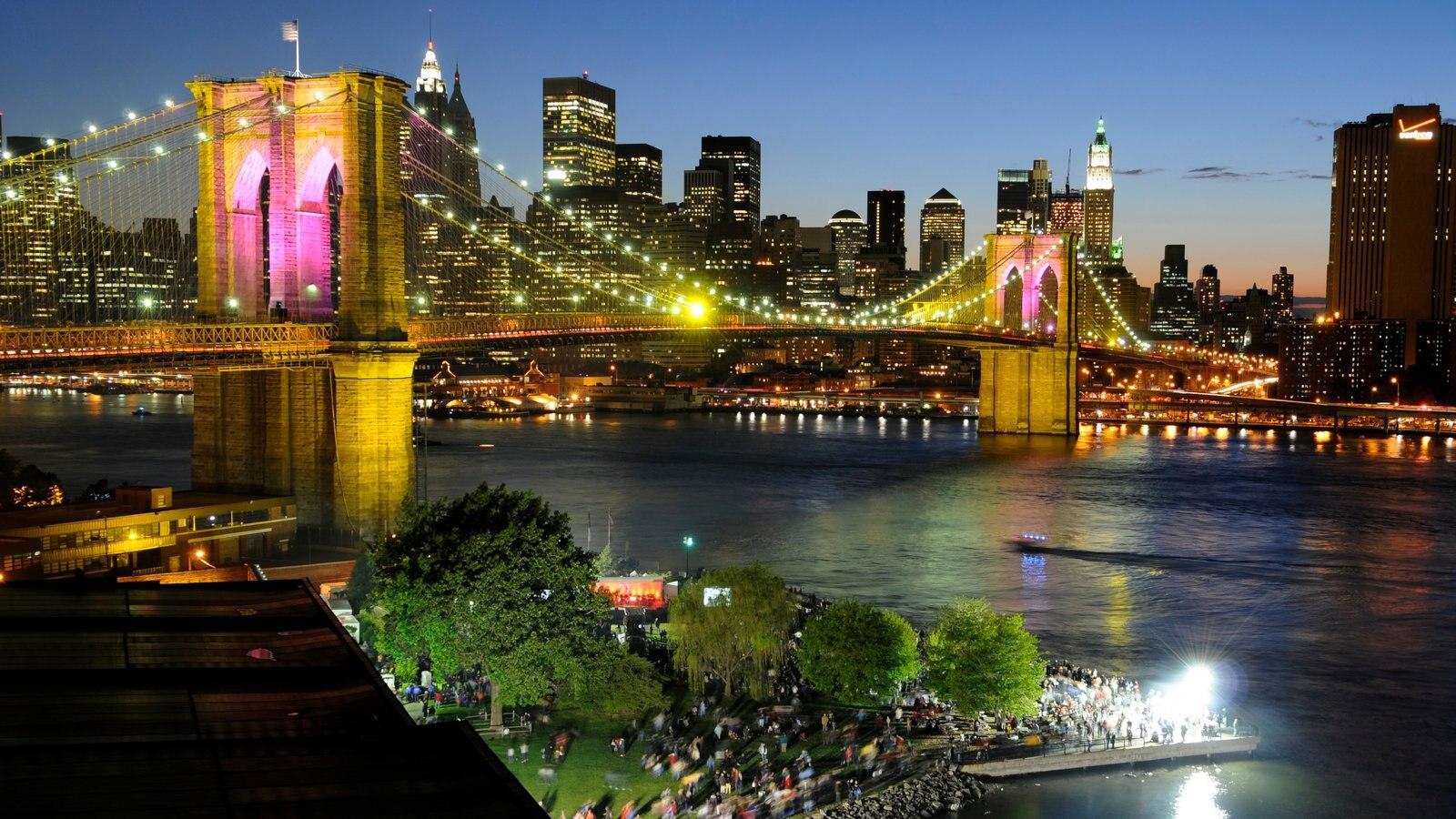 Brooklyn ofreciendo horizonte, una ciudad y un puente