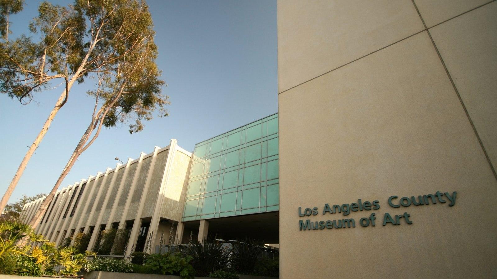 Museo de Arte del Condado de Los Ángeles mostrando arquitectura moderna