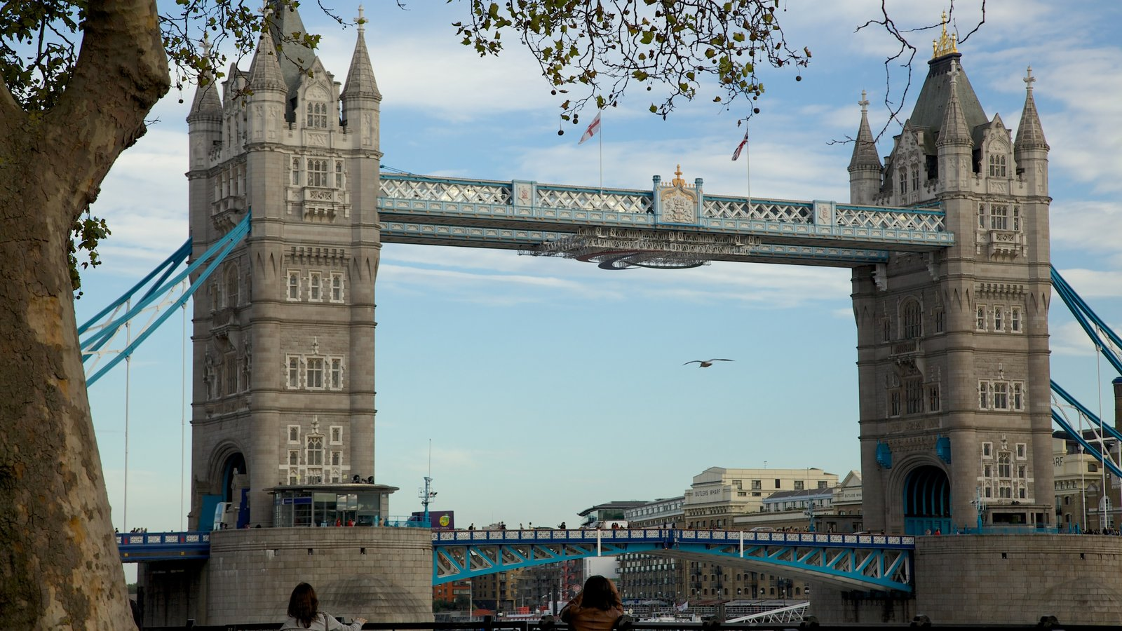 Tower Bridge which includes a bridge, a city and heritage architecture