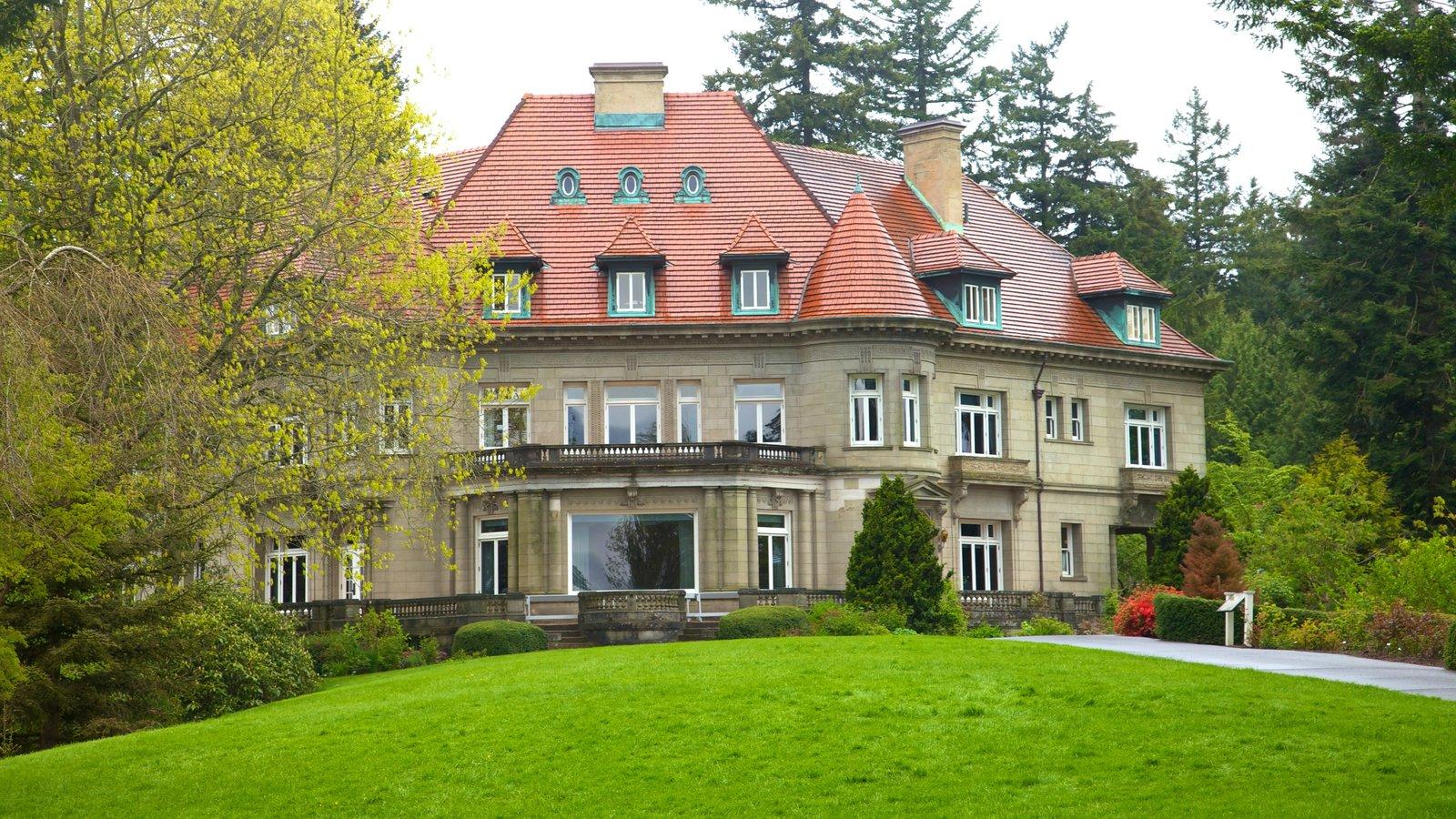 Pittock Mansion ofreciendo patrimonio de arquitectura, una casa y un monumento