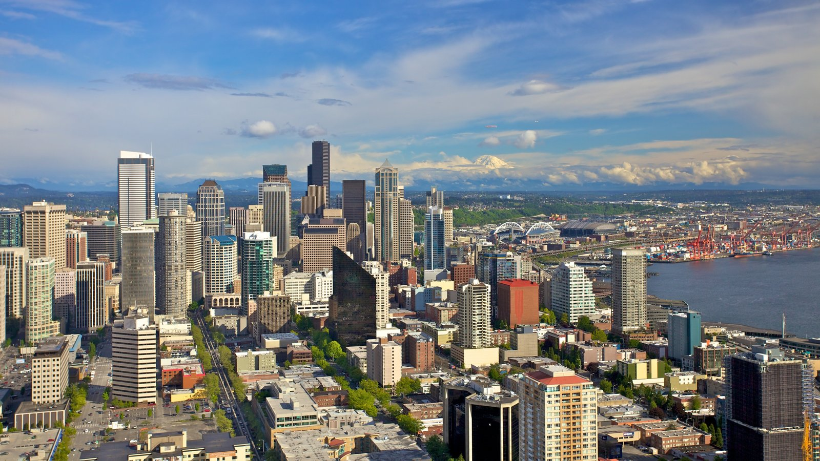 Downtown Seattle featuring skyline, central business district and a city