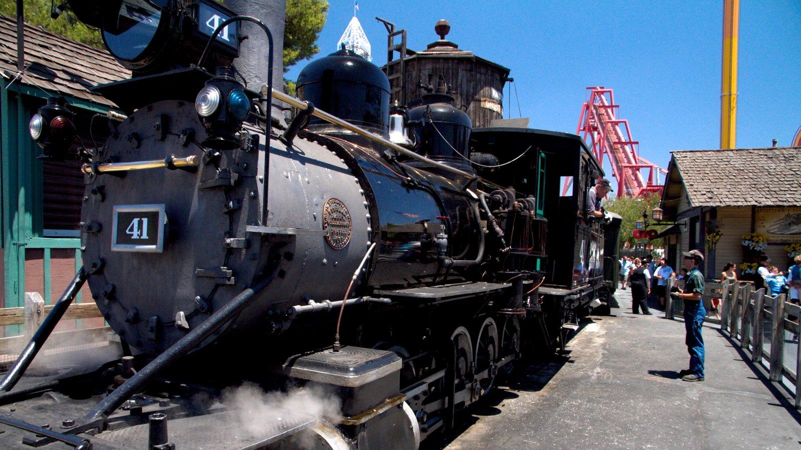 Knott\'s Berry Farm mostrando passeios e itens de ferrovia
