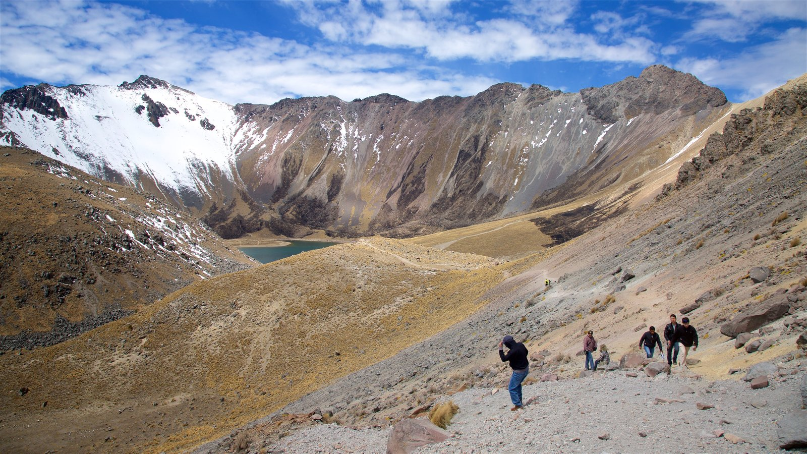 Nevado de Toluca National Park showing snow, mountains and tranquil scenes