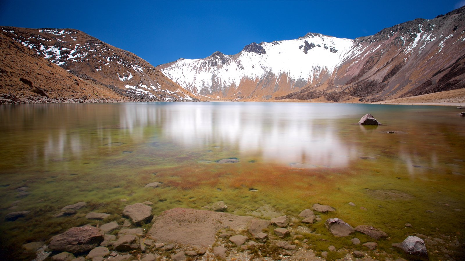 Nevado de Toluca National Park which includes mountains, a lake or waterhole and snow