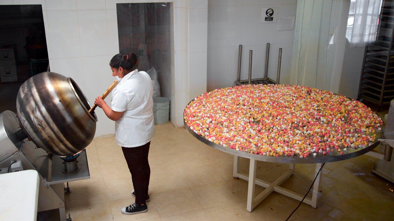Bernal mostrando vistas internas e comida assim como uma mulher sozinha
