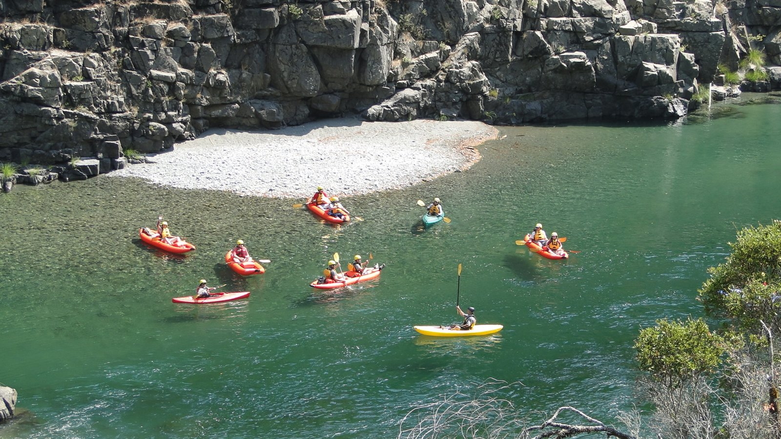 Redwood National and State Parks which includes rugged coastline, kayaking or canoeing and a river or creek