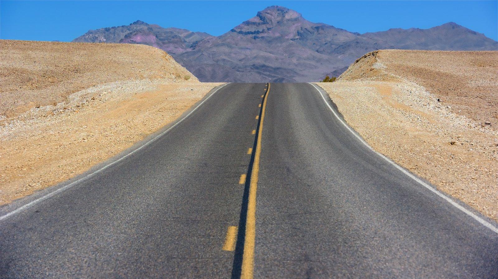 Vale da Morte mostrando cenas tranquilas e paisagens do deserto