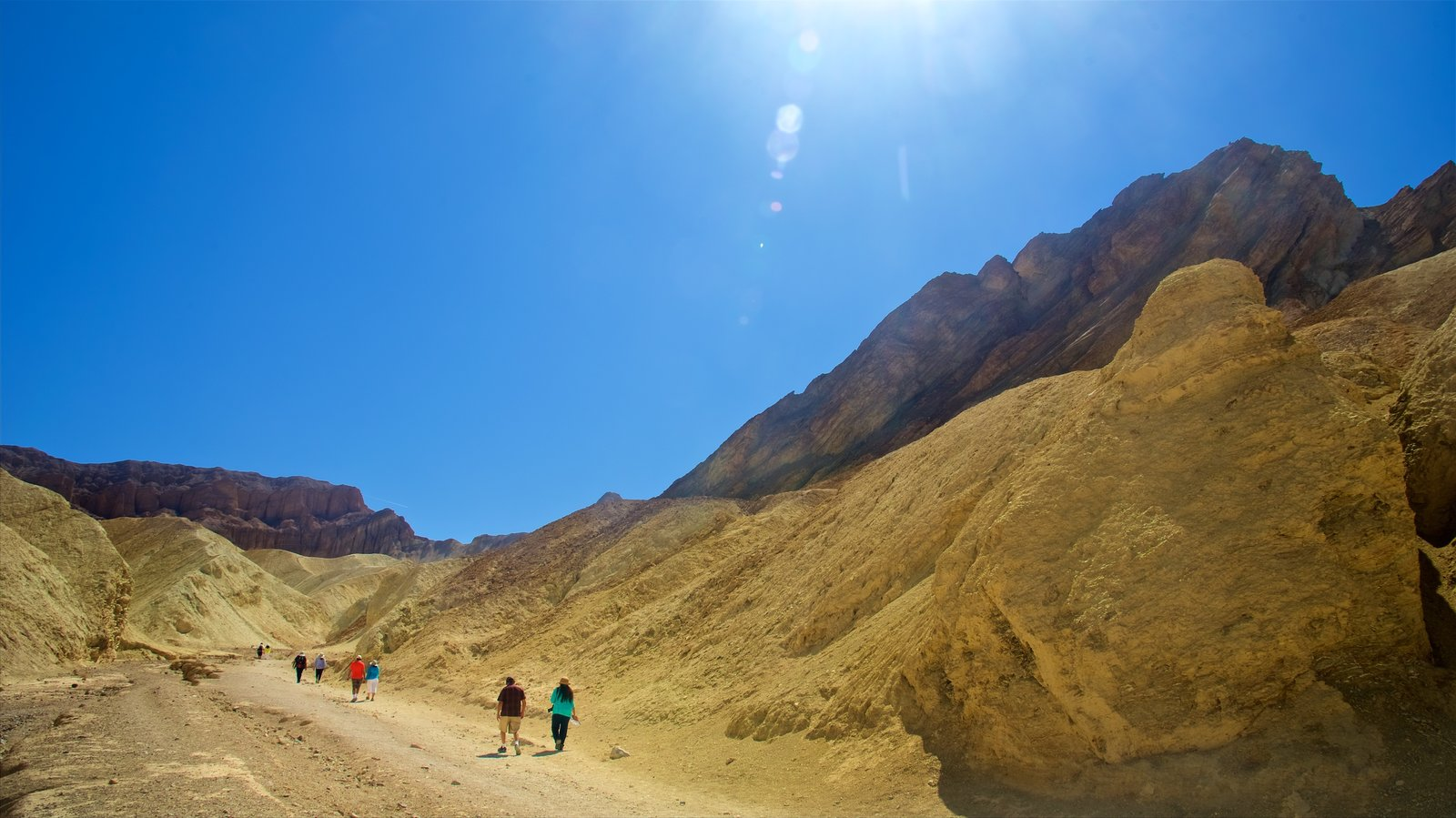 Death Valley showing desert views, tranquil scenes and hiking or walking