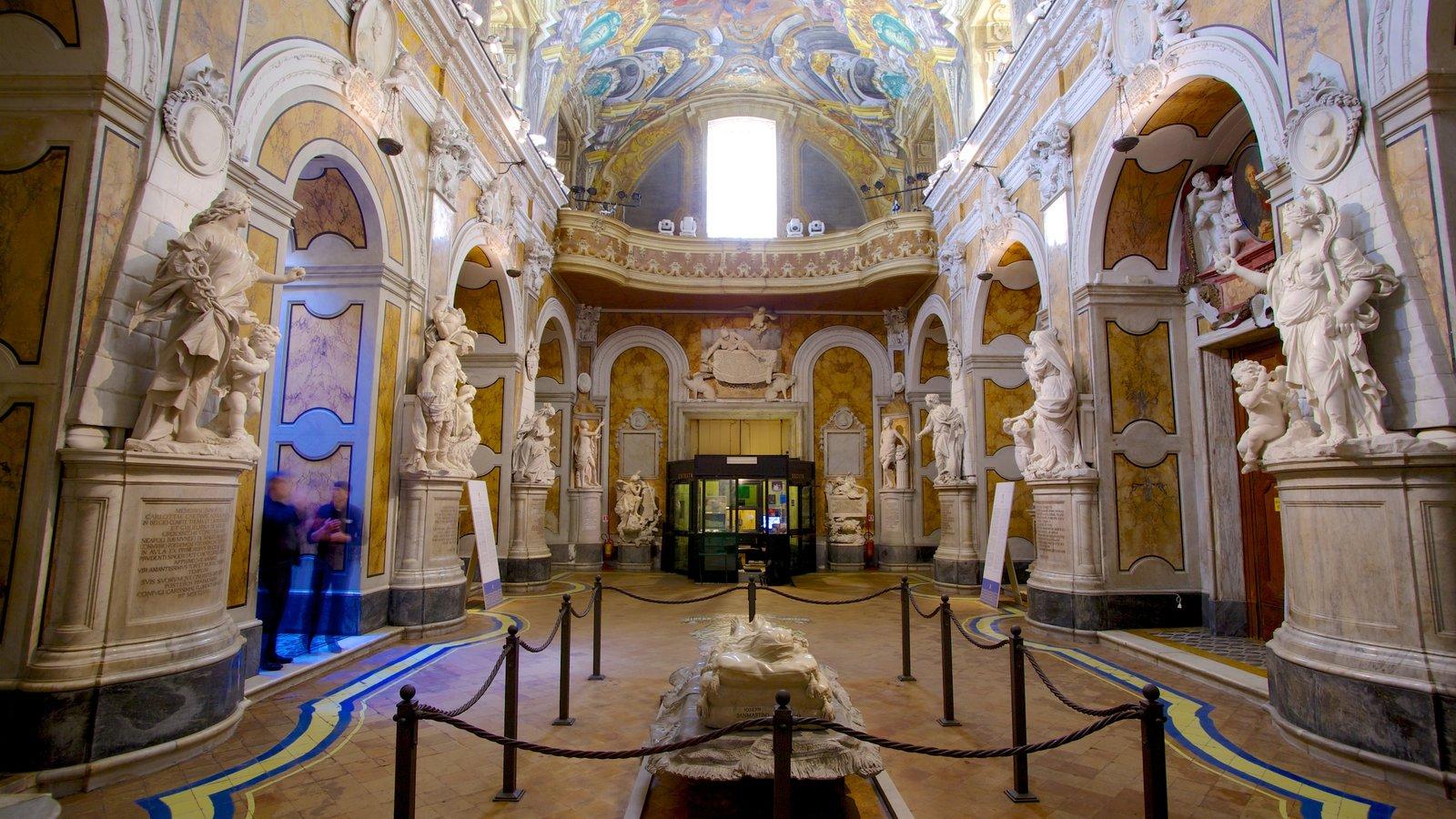 La Cappella Sansevero que inclui uma igreja ou catedral, aspectos religiosos e arquitetura de patrimônio