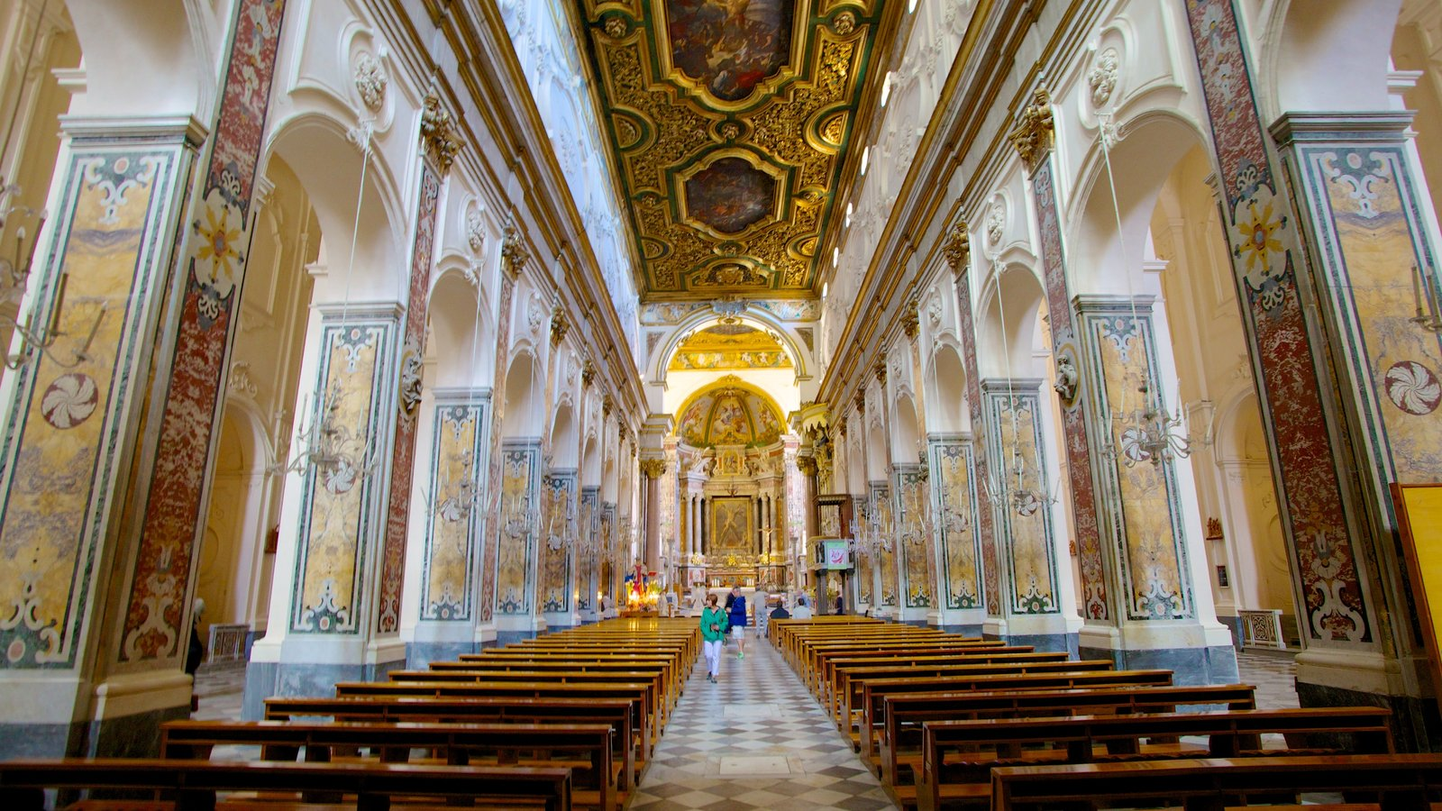 Amalfi Coast which includes a church or cathedral, religious elements and interior views