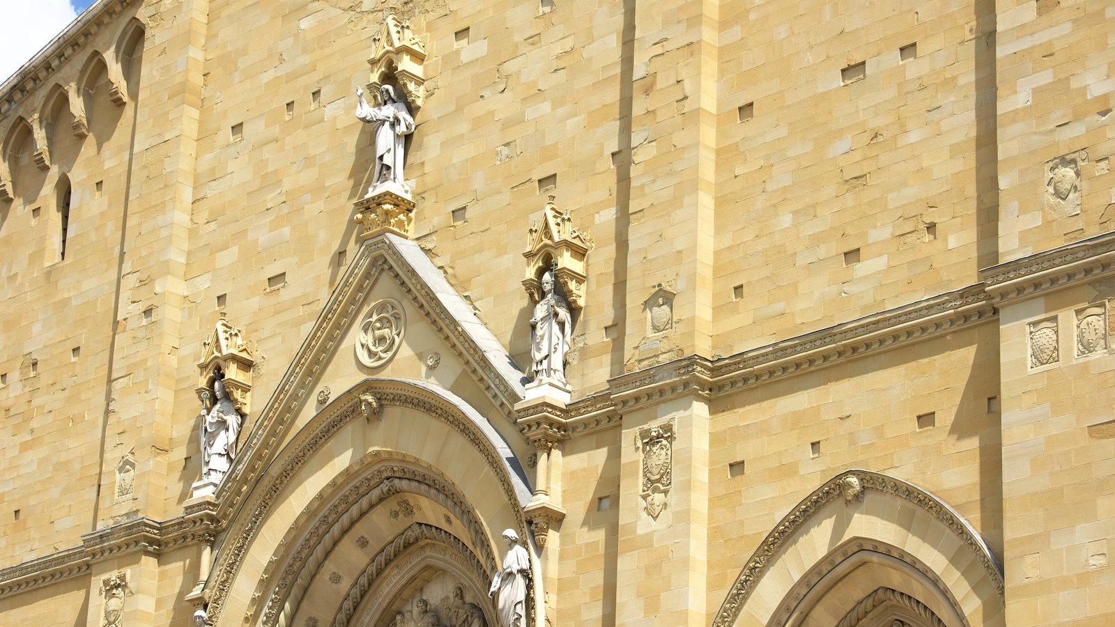 Cathedral of Arezzo showing a church or cathedral, religious aspects and heritage architecture