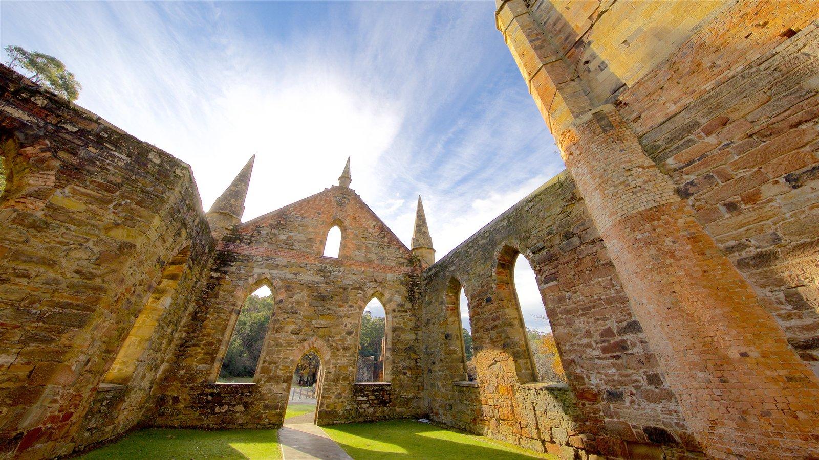Port Arthur Historic Site que inclui um castelo, elementos de patrimônio e uma ruína
