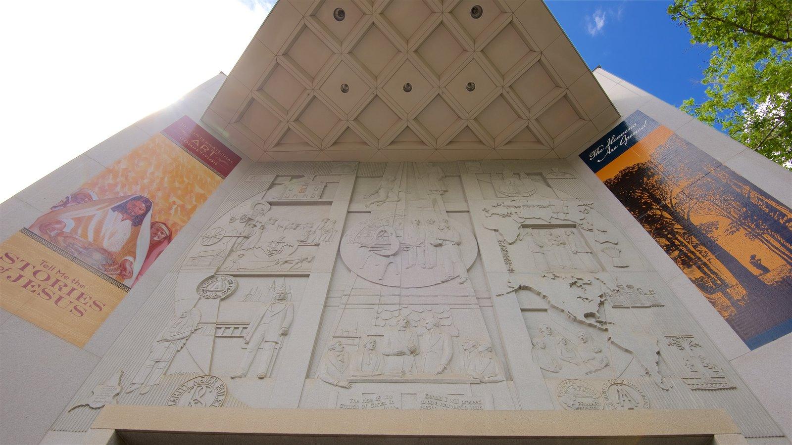 Museu da Historia da Igreja que inclui arquitetura moderna