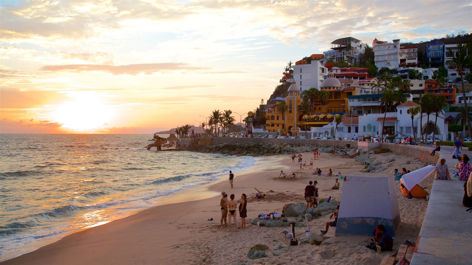 Olas Altas Beach Which Includes General Coastal Views A And Sunset