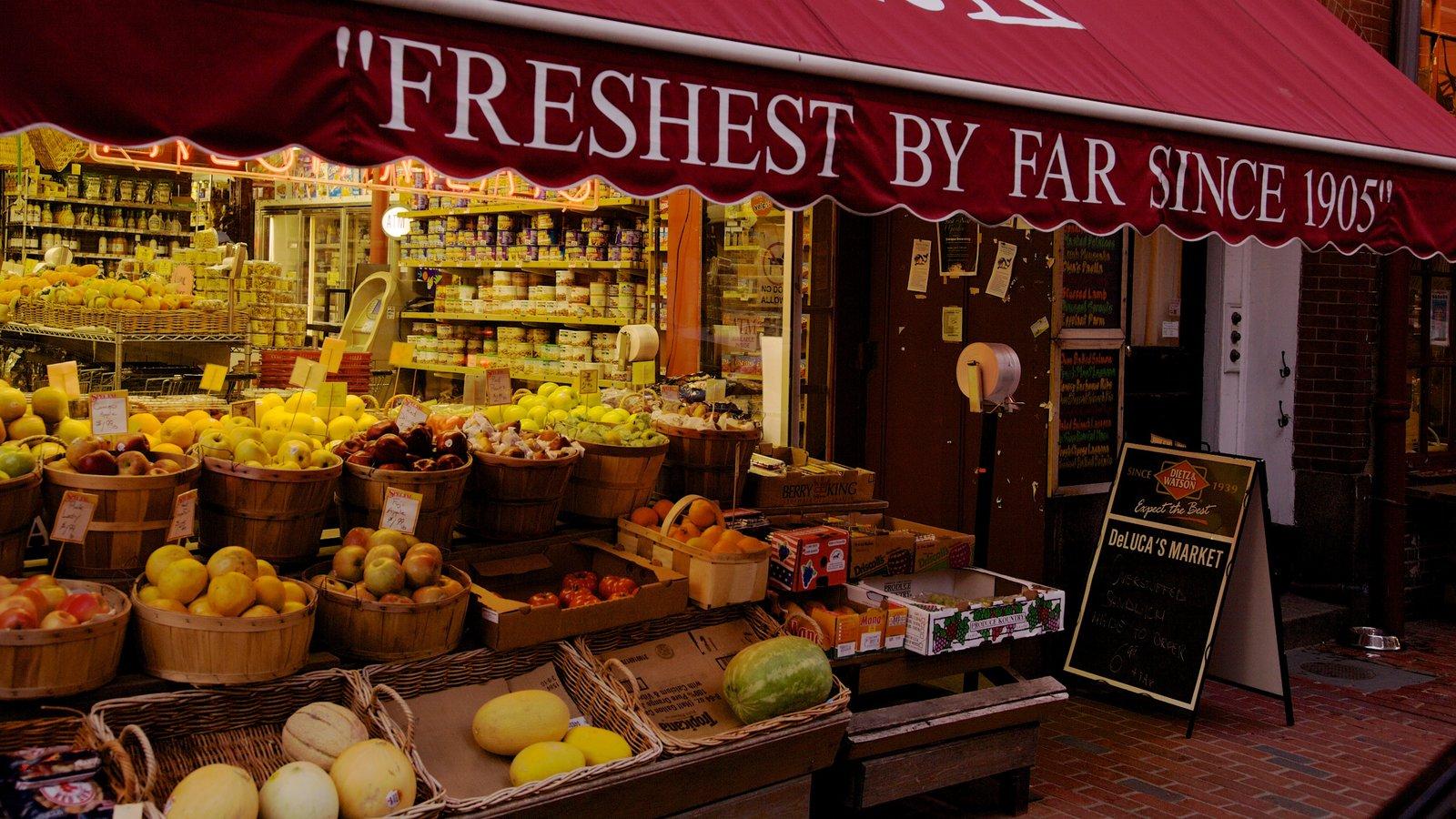Beacon Hill que inclui compras e comida
