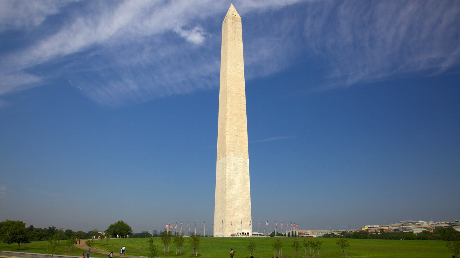 Washington Monument mostrando um monumento, linha do horizonte e paisagem