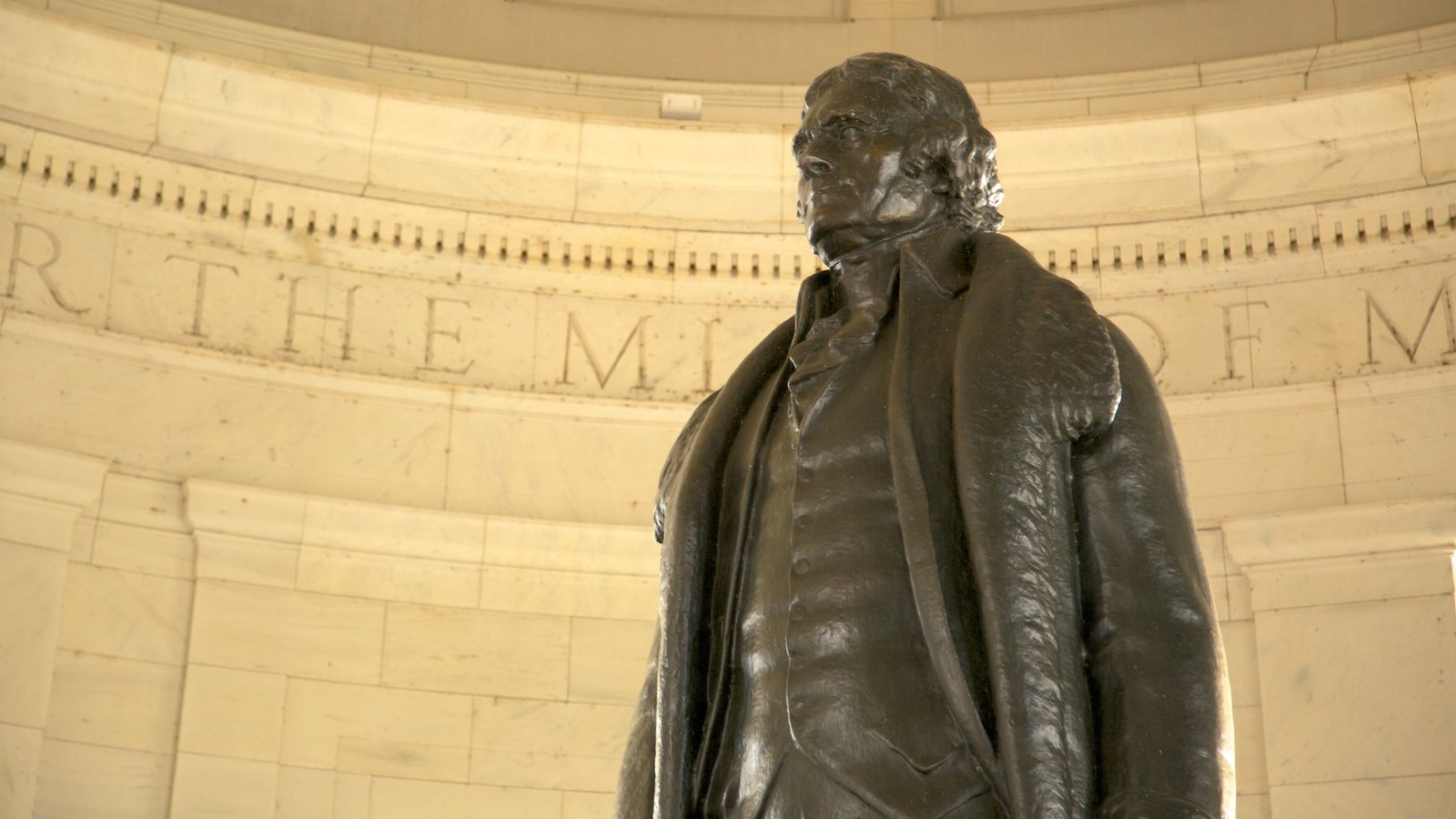 Jefferson Memorial which includes a memorial and interior views