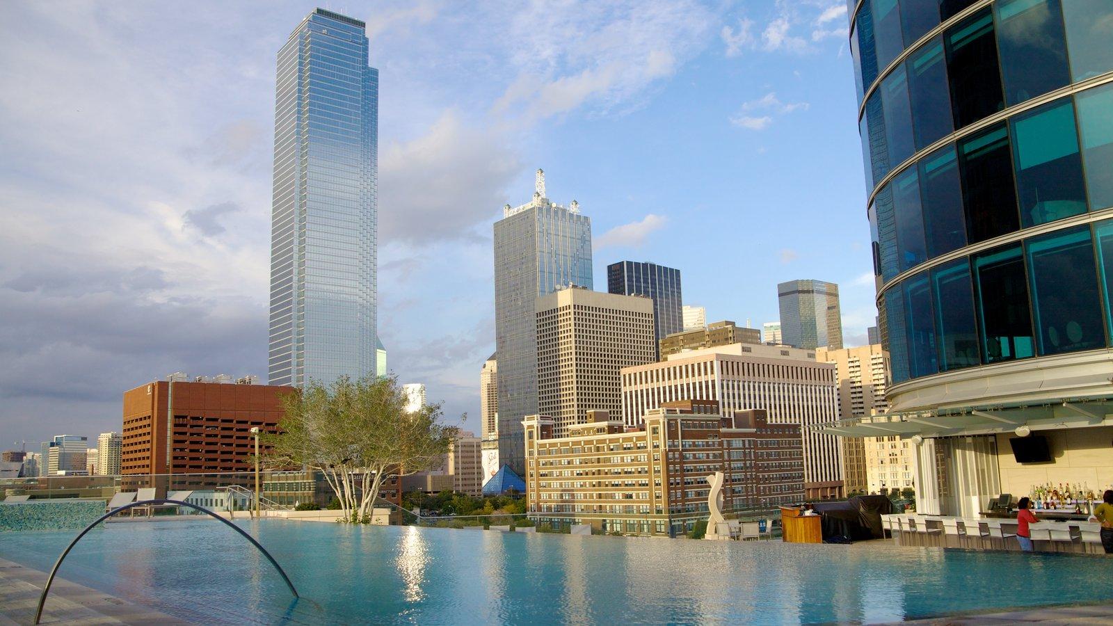 Dallas caracterizando paisagens da cidade, uma cidade e linha do horizonte