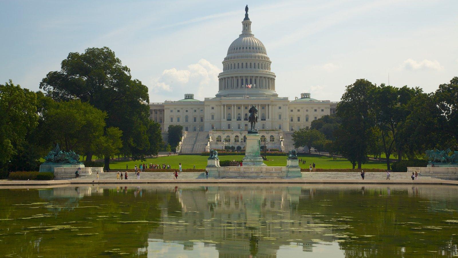 National Mall que inclui arquitetura de patrimônio, uma praça ou plaza e paisagem