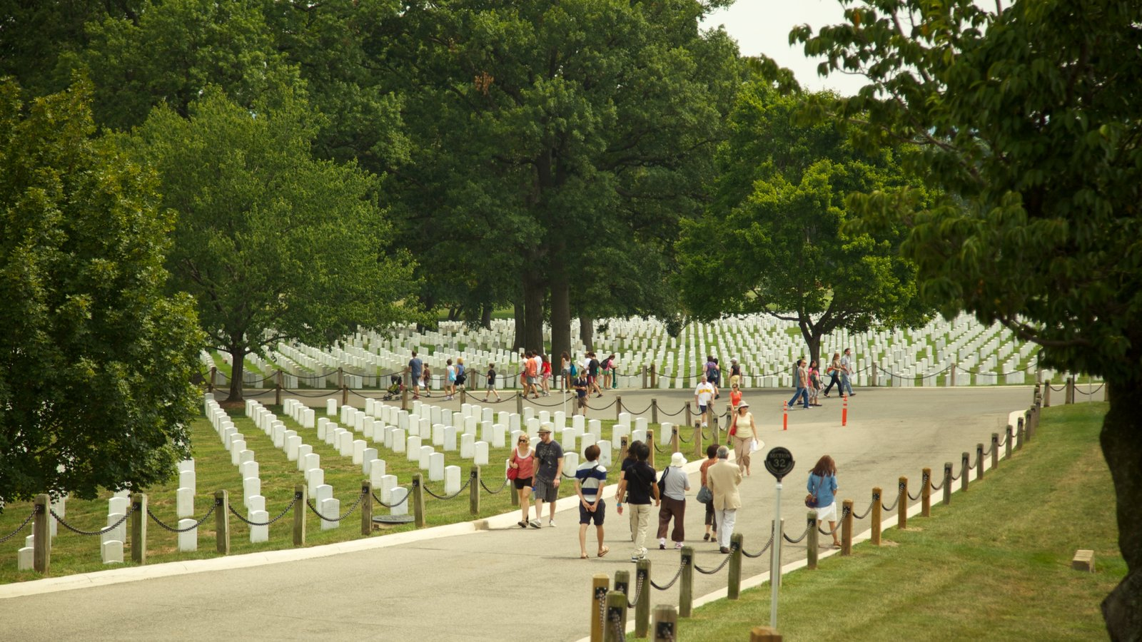 Arlington National Cemetery featuring a cemetery, landscape views and a memorial