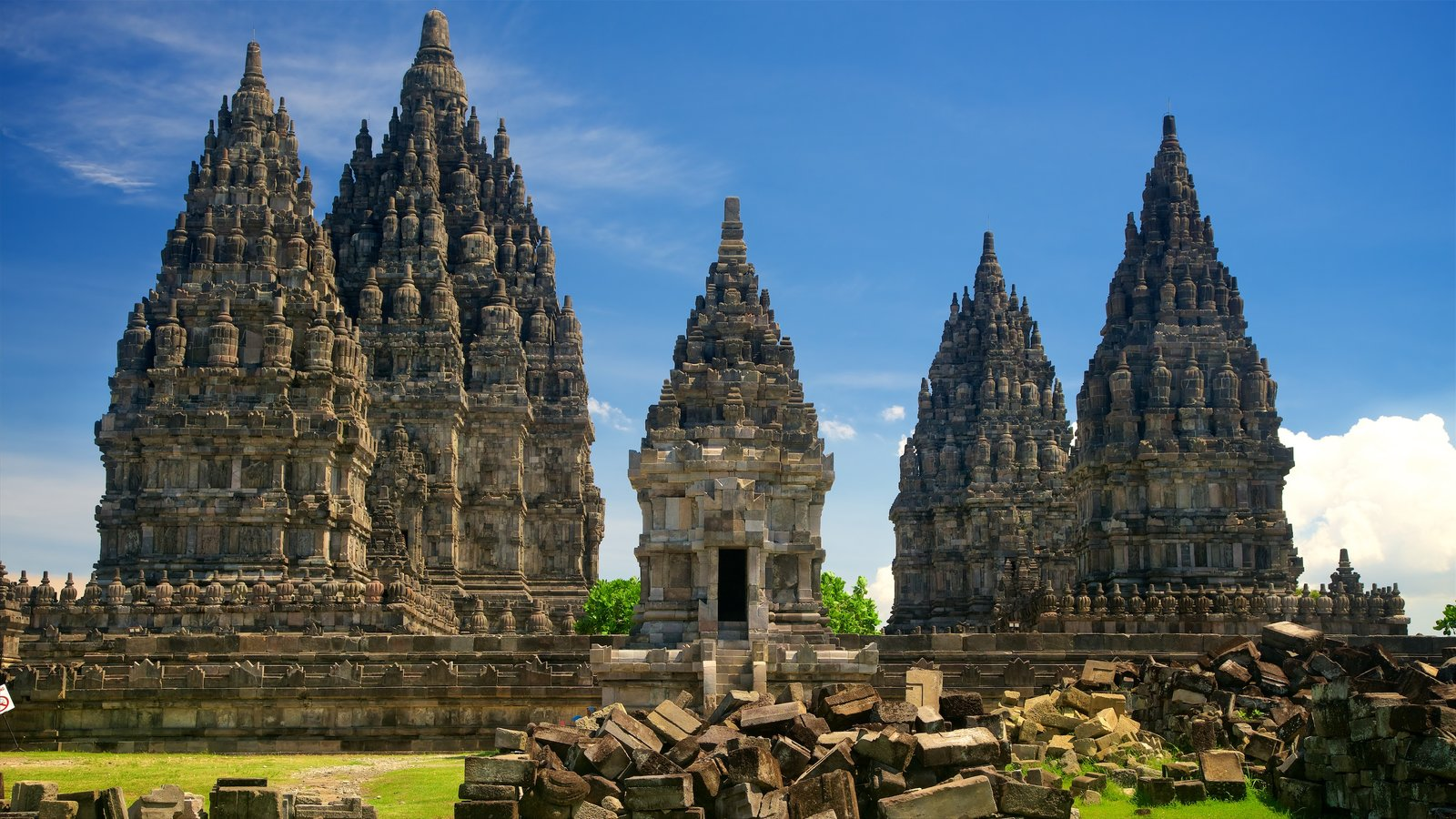 Prambanan Temple featuring building ruins and heritage architecture