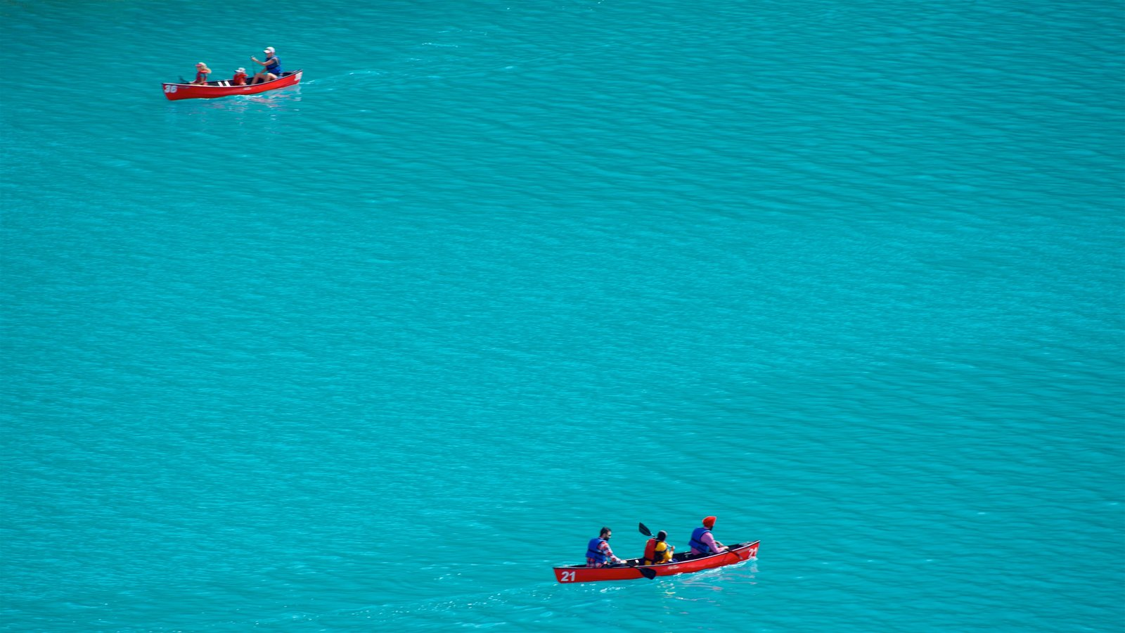 Canadian Rockies which includes a lake or waterhole and kayaking or canoeing