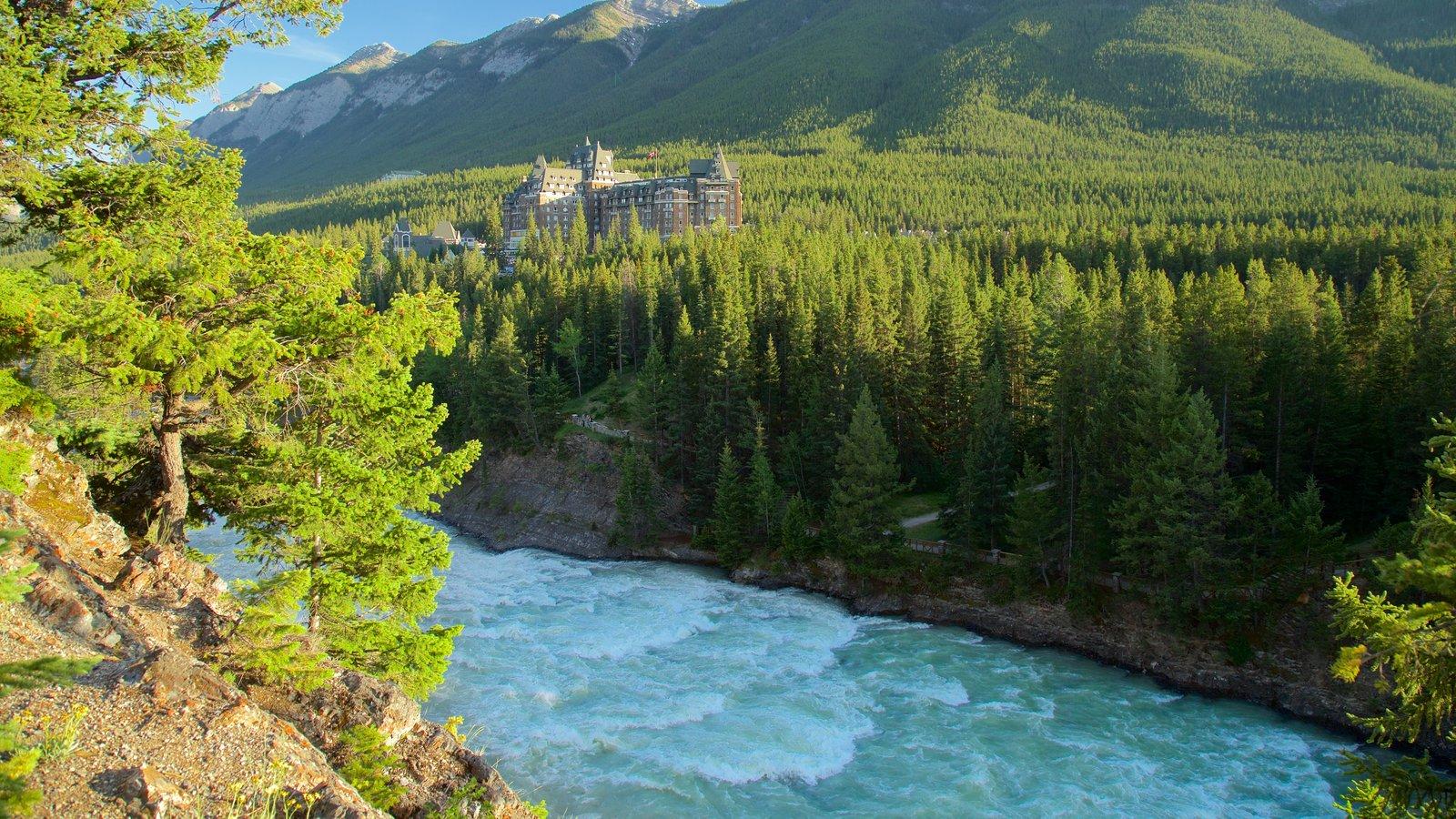 Parque nacional Banff ofreciendo escenas tranquilas y un río o arroyo